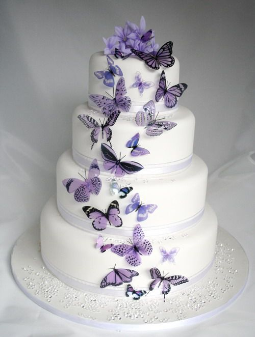 20 mauve butterflies for cakes and decorations 2574821 weddbook