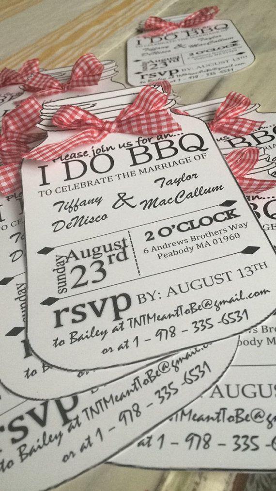 Hochzeit - I DO BBQ Personalized Invitations