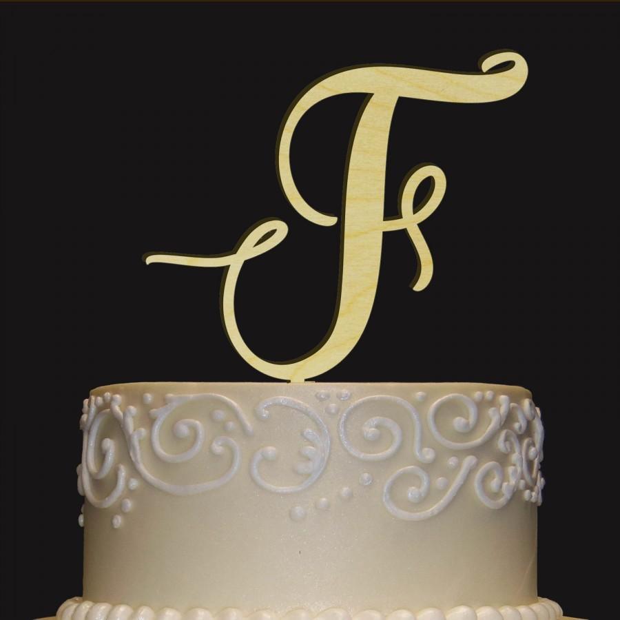Mariage - Rustic Wedding Cake Topper - Personalized Monogram Cake Topper - Keepsake Wedding Cake Topper