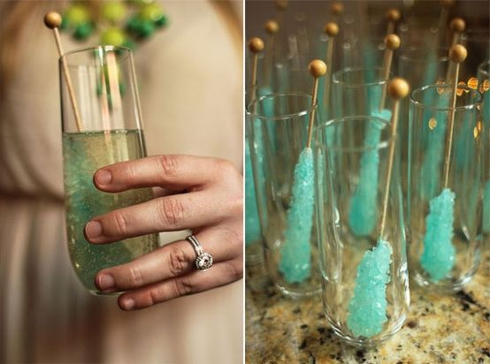 Wedding - Rock Candy Champagne Cocktail - Weddingsabeautiful