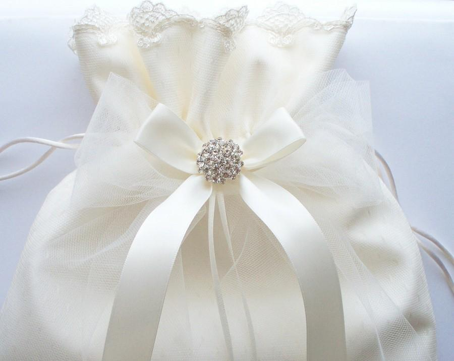 Wedding Ivory Money Bag Bridal Dance Bag With Point D