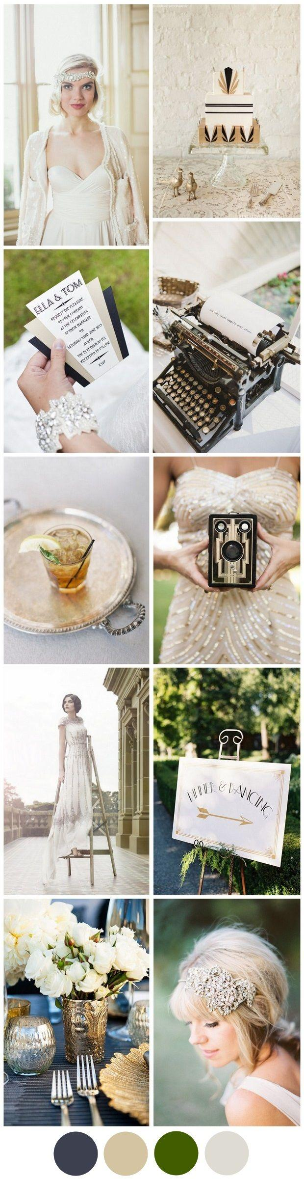 Свадьба - Channeling The Great Gatsby: Your Art Deco Wedding Theme