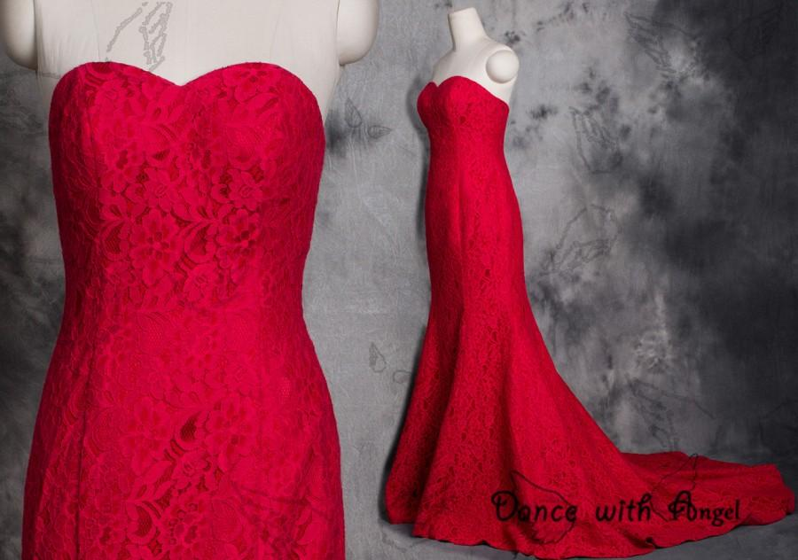 Mariage - Sexy red lace prom dresses,prom dress,long prom dress,bridesmaid dresses,evening dresses,bridesmaid dress,evening dress