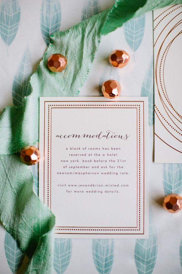 Hochzeit - Rose Gold Wedding Inspiration With Minted