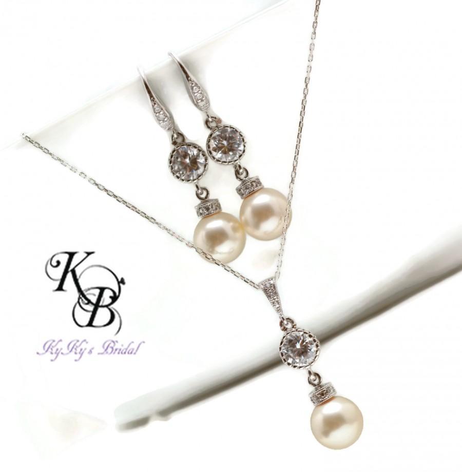 Свадьба - Bridal Jewelry Set, Classic Jewelry, Elegant Jewelry, Wedding Jewelry, Pearl Jewerly Set, Wedding Jewelry Set, Jewelry Set, Sterling Silver