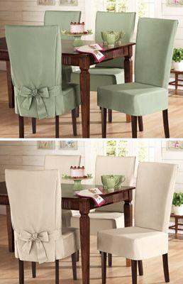 Mariage - Sure- Fit Cotton Dining Chair Slip Cover From Collections Etc.
