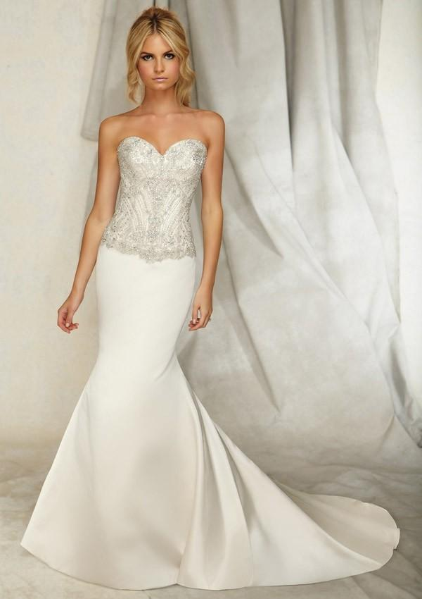 زفاف - 2014 Cheap Mori Lee Wedding Dresses 1255 Lustrous Satin - Cheap Discount Evening Gowns