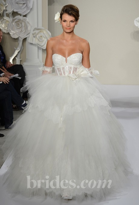 Wedding - Pnina Tornai - 2013 - Style 4188 Strapless Lace and Tulle Ball Gown Wedding Dress - Stunning Cheap Wedding Dresses