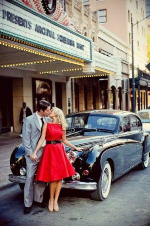 Wedding - 1950s Glamour Engagement Session