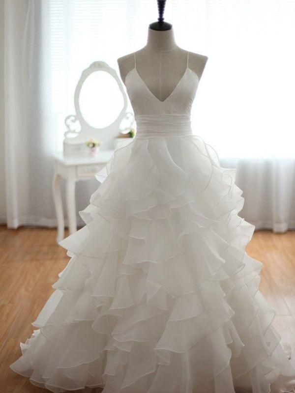 Wedding - V-neck Empire Waist Draping Wedding Dress ,bridal Gown From SheDress