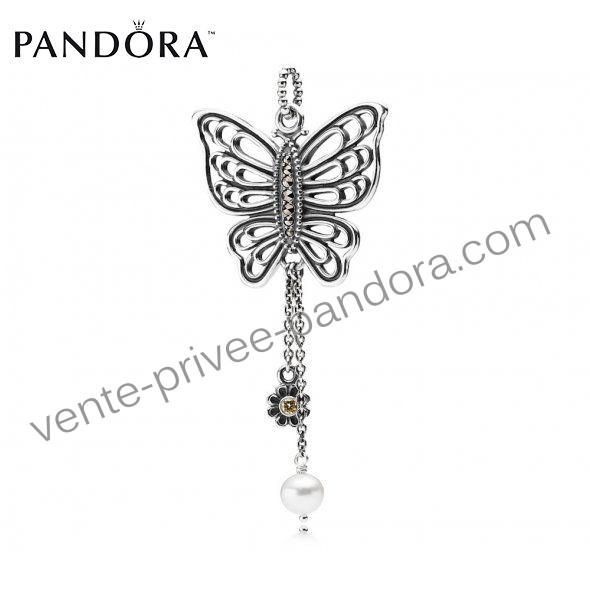 Свадьба - Commandez En Ligne Collier Pandora Pas Cher Silver Pearl Papillon Ajouré p0917