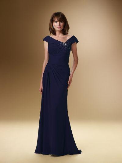 Mariage - Rina Di Montella 1621 Cap Sleeve Mother of the Bride Dress - Brand Prom Dresses