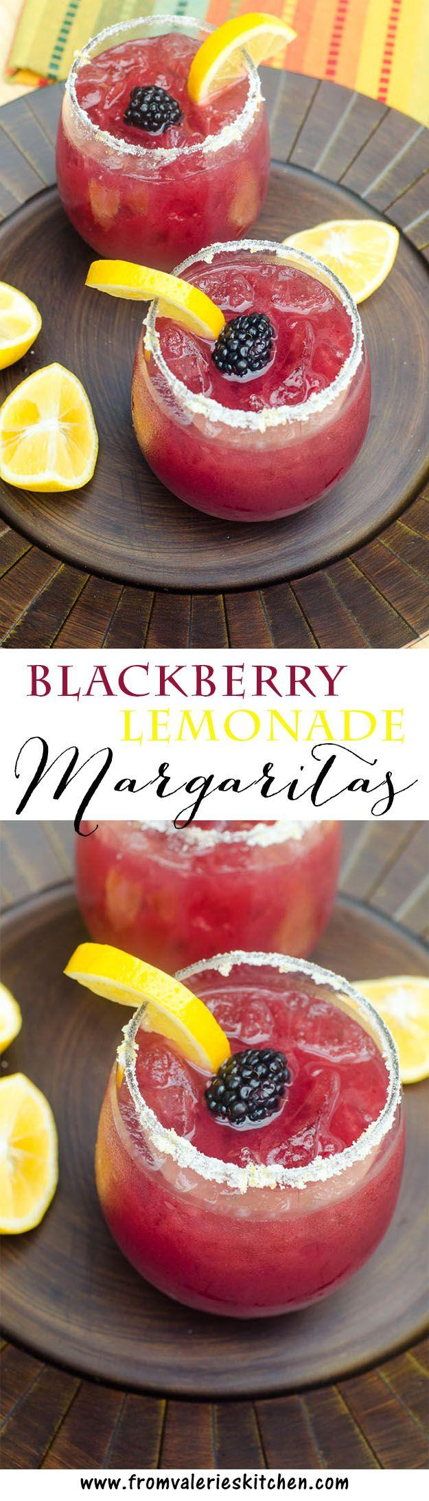 Hochzeit - Blackberry Lemonade Margaritas