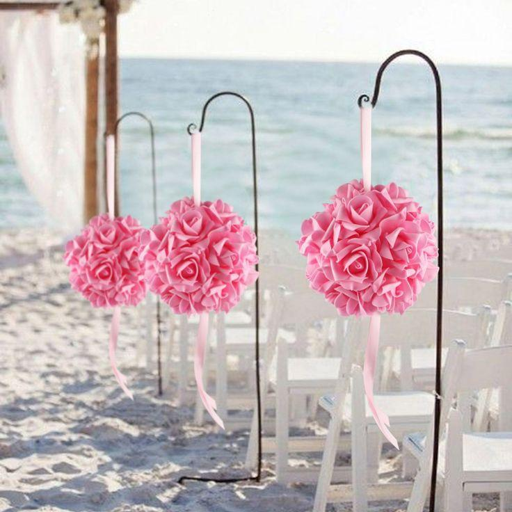 40pcs40cm Foam Flower Ball Artificial Rose Hanging Kissing Balls For Unique Hanging Flower Ball Decorations