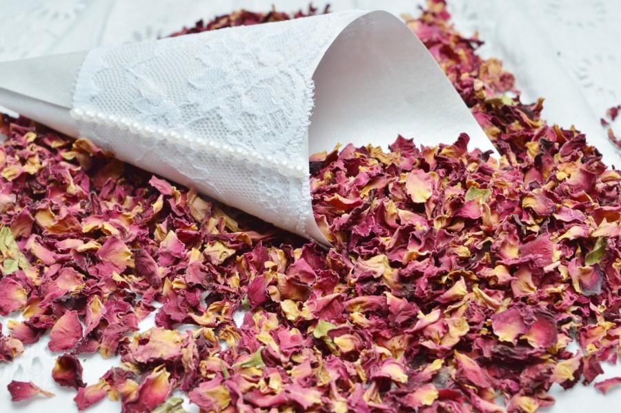 Wedding - Rose petals,  Petals for confetti, Biodegradable petals,  Petals for baskets, Confetti cones, Petals for guests