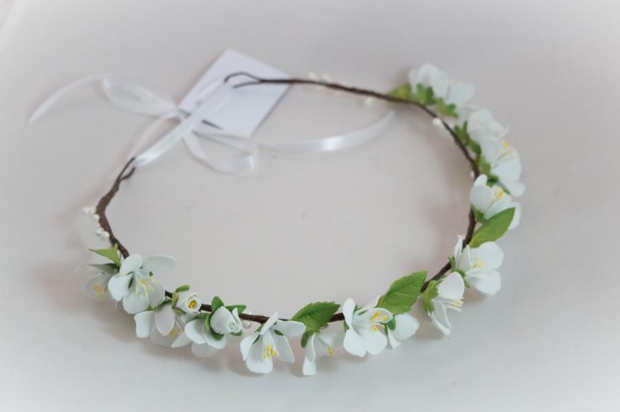 Свадьба - Spring flowers Wreath pink wedding accessories foam couronne fleur boho trends