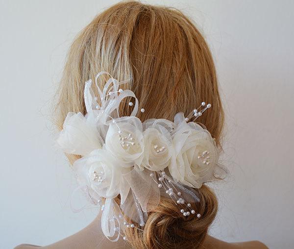 Mariage - Wedding  Flower Hair Combs,  Wedding Hair Accessories,  Bridal Flower  Hair Combs, Hair Flower, Bridal Hair Accessories