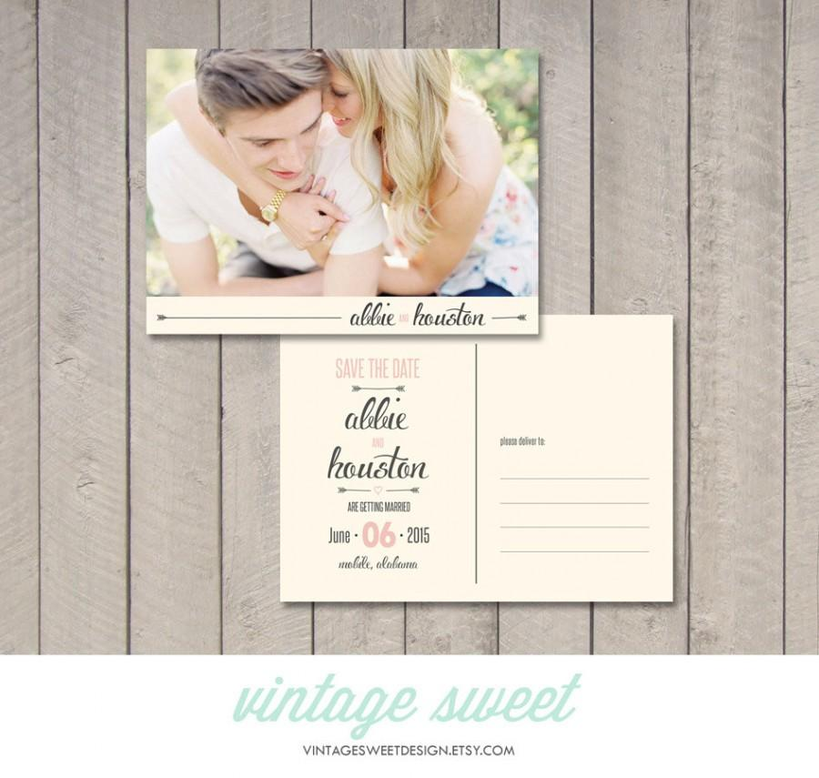 Save The Date Postcard Magnet Printable By Vintage Sweet