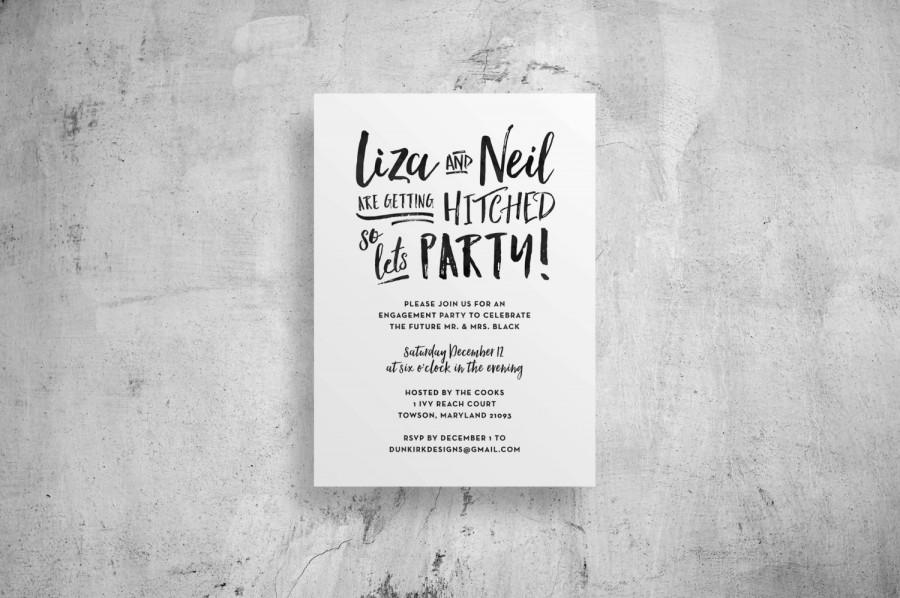 Engagement Party Invitations // Engagement Party Invites // Brush ...