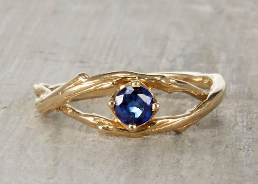 Wedding - Petite Blue Sapphire Unity Ring