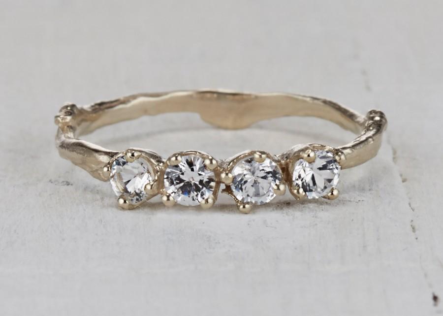 Mariage - Petite White Sapphire Garland Ring