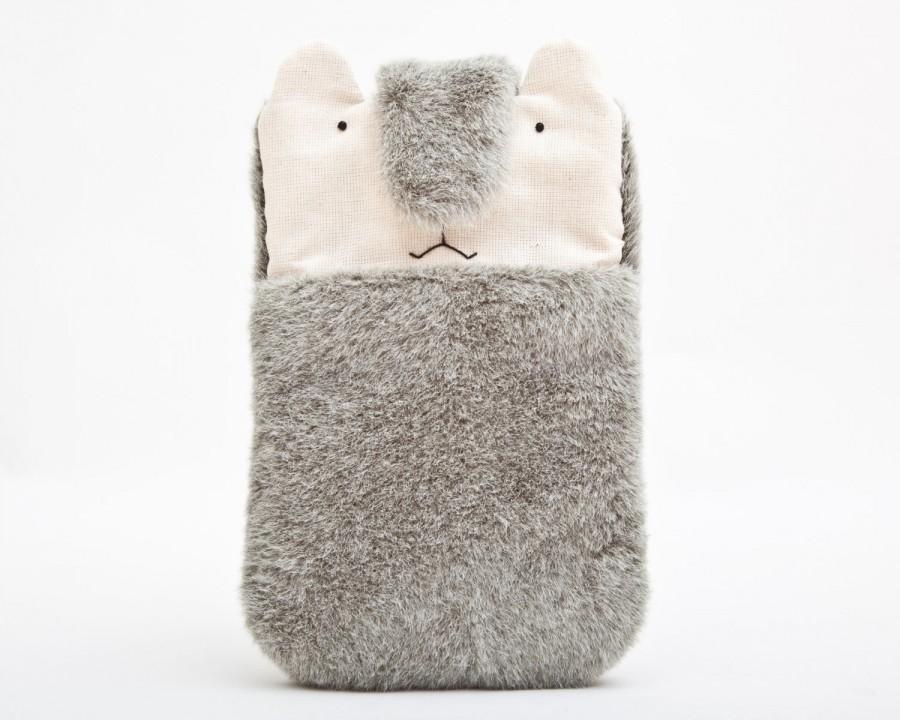 Mariage - Gray iPhone Case, iphone 6 case, Smartphone sleeve, Bear