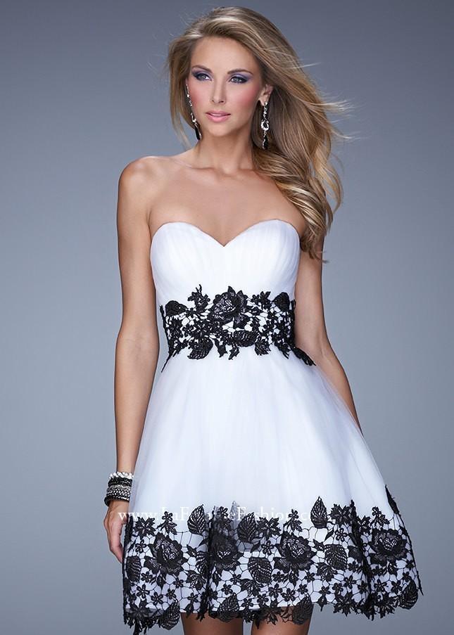 La Femme 20790 Strapless Lace Dress - 2016 Spring Trends Dresses ...