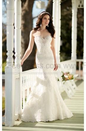 Nozze - Martina Liana Strapless Lace Fit And Flare Wedding Dress Style 787