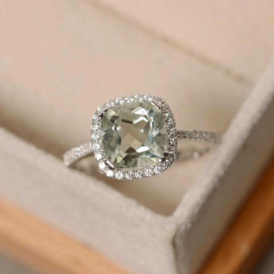 silver lemon natural ring quartz diamond halo oval sterling impl engagement home shopcart rings sabrinasilver inch flower green