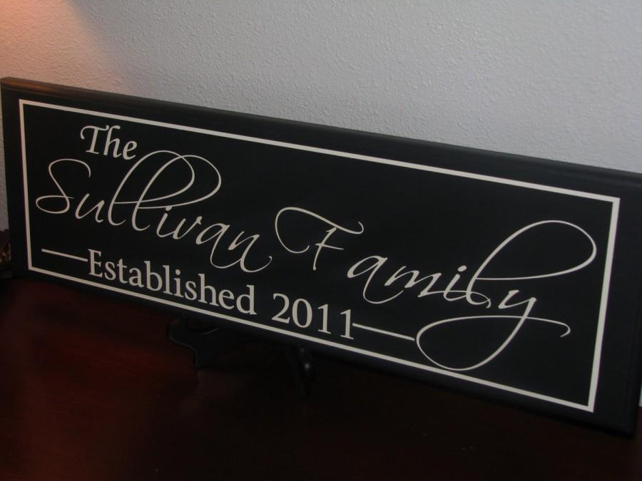 personalized family name signs custom wooden signs last name sign