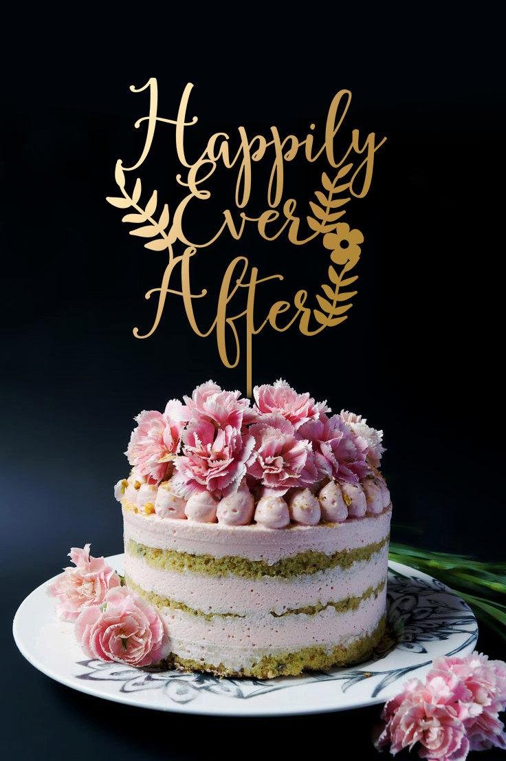 Hily Ever After Cake Topper Wedding A2016