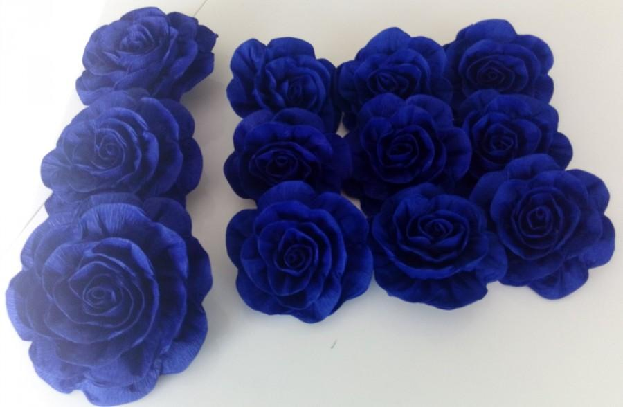 10 great giant crepe paper flowers royal navy blue centerpiece 10 great giant crepe paper flowers royal navy blue centerpiece peacock beach wedding bridal cake topper baby shower decor baptism party mightylinksfo