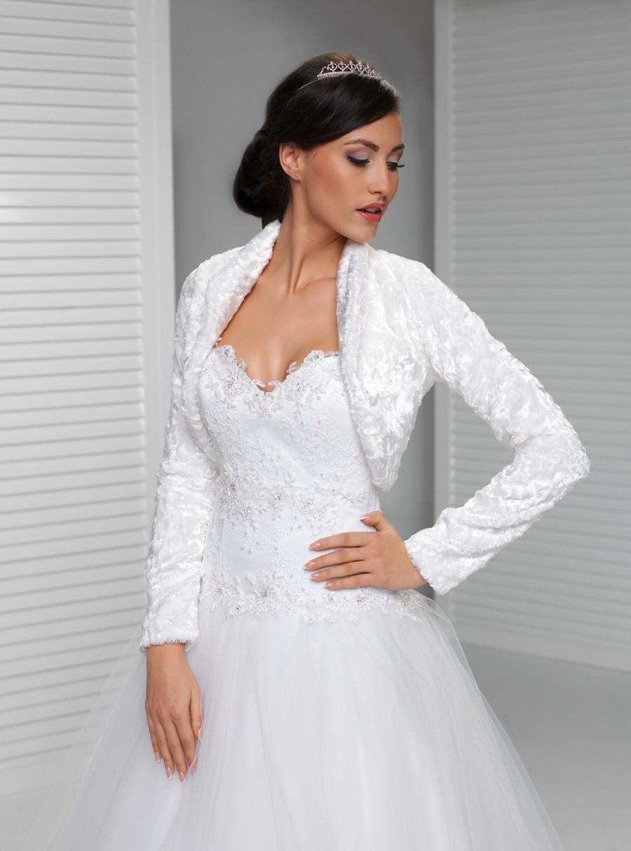 Свадьба - Long Sleeve Winter Bridal Wrap Warm Velvet Bolero  Bridal Coat Elegant Wedding Jacket With Sleeves