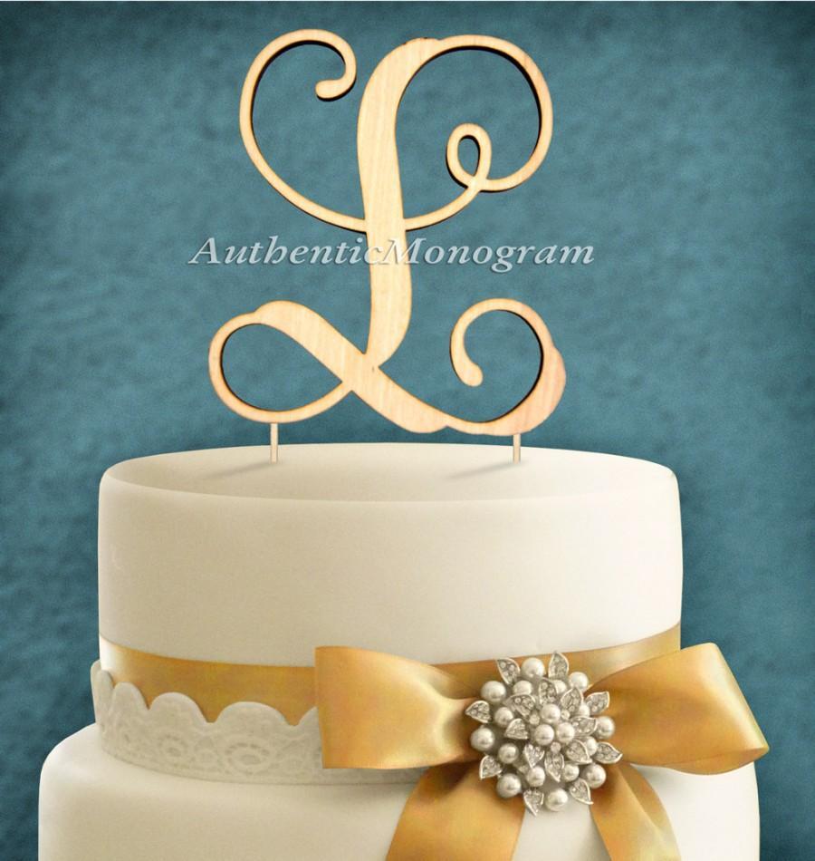 Свадьба - AZ Wooden LETTER Cake Topper, vine scrip, Wedding Decor, Anniversary, Engagement, Proposal, Rehearsal Dinner, Bridal Shower (4112