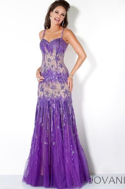 Nozze - Jovani Long Slim Beaded Illusion Prom Dress 4342 - Brand Prom Dresses