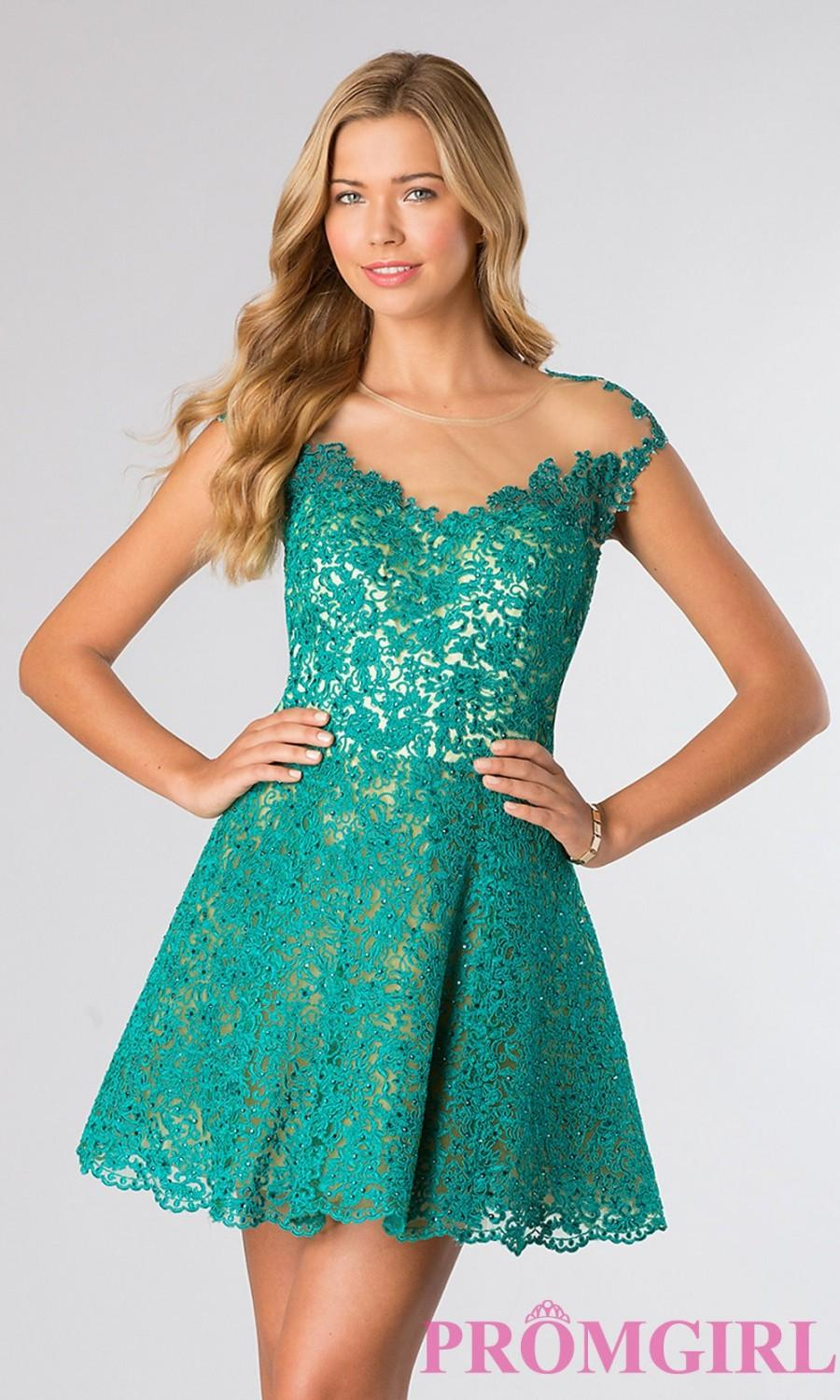 Short Open Back Lace Dress - Brand Prom Dresses #2576314 - Weddbook