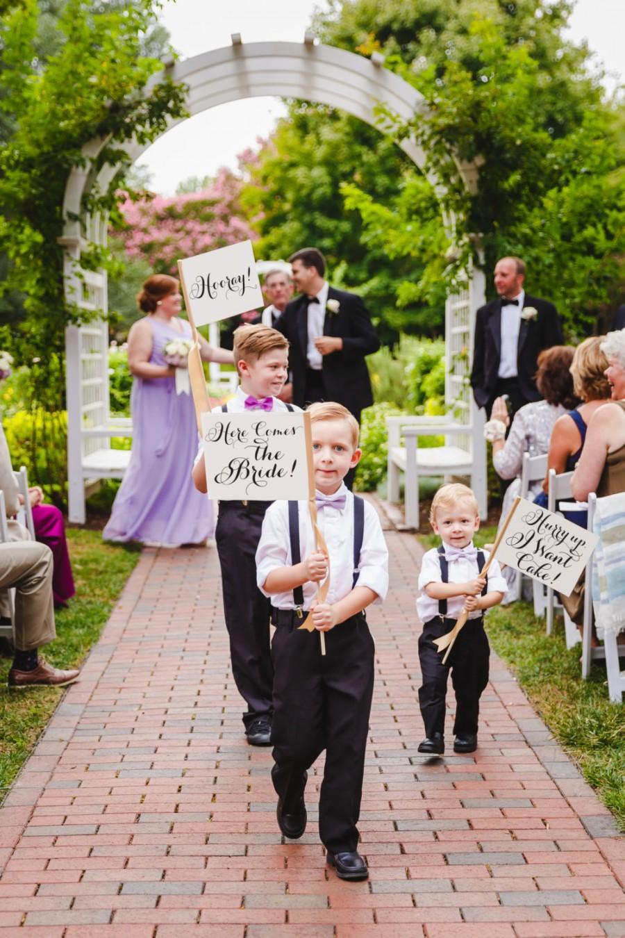 Свадьба - Set of 3 Wedding Signs