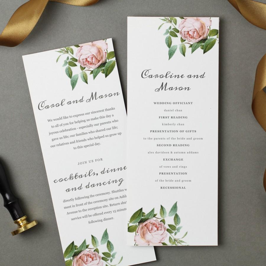 invitation printable wedding program template 2576358 weddbook