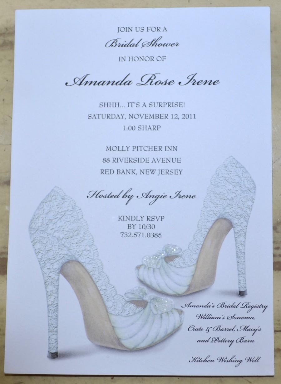 Wedding - BRIDAL SHOWER INVITATIONS Shoe Theme Bridal Shower - Bridal Shower Invites Personalized