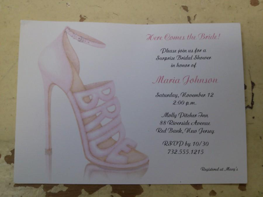 Bridal shower invitations shoe theme bridal shower bridal shower bridal shower invitations shoe theme bridal shower bridal shower invites personalized filmwisefo