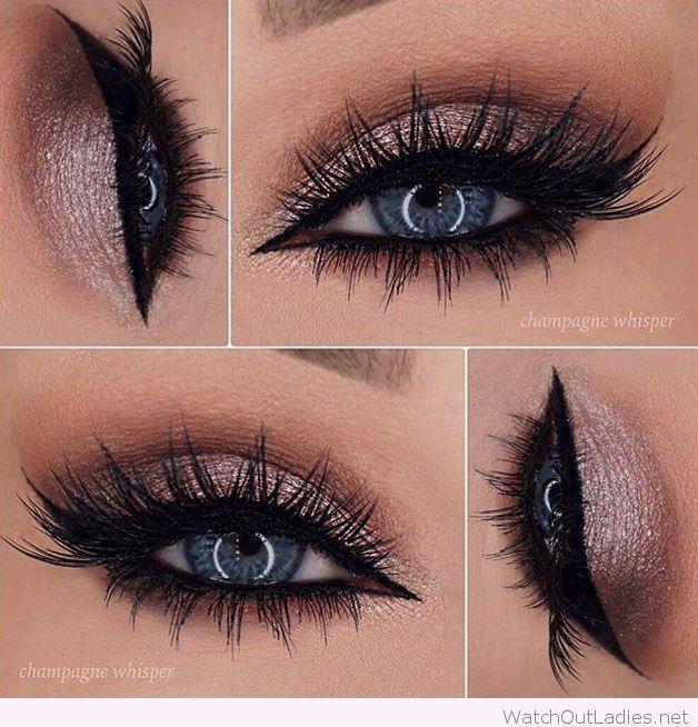 Свадьба - Rose Glitter Eye Makeup For Blue Eyes