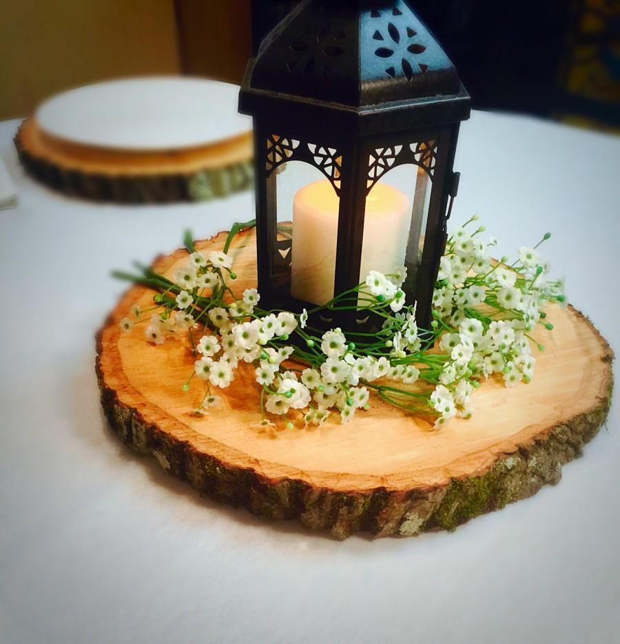 Свадьба - Set of 12! Wedding decor, rustic wedding decorations, wood slice centerpieces, wood decor, wood slabs, wedding centerpieces!