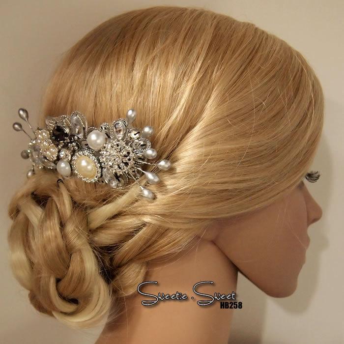 Свадьба - Bridal Hair Comb, Wedding Hair Comb, bridal Fascinator, Wedding Fascinator, Bridal Headpiece, Wedding Accessories, Woodland Hair Comb HB258