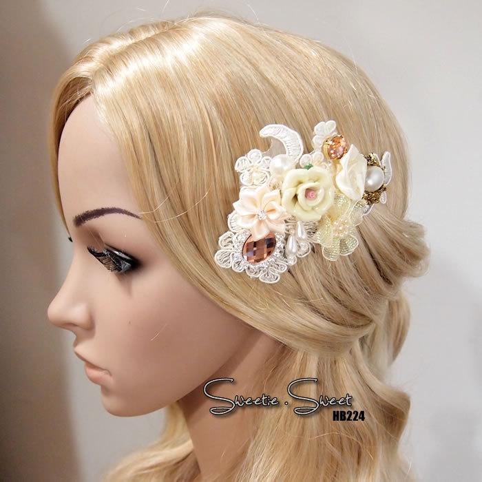Свадьба - Bridal Hair Comb, Wedding Hair Comb, bridal Fascinator, Wedding Fascinator, Bridal Headpiece, Wedding Accessories, Woodland Hair Comb HB224