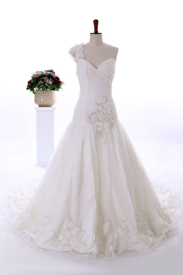 Wedding - Luxury One Shoulder With Sweetheart
