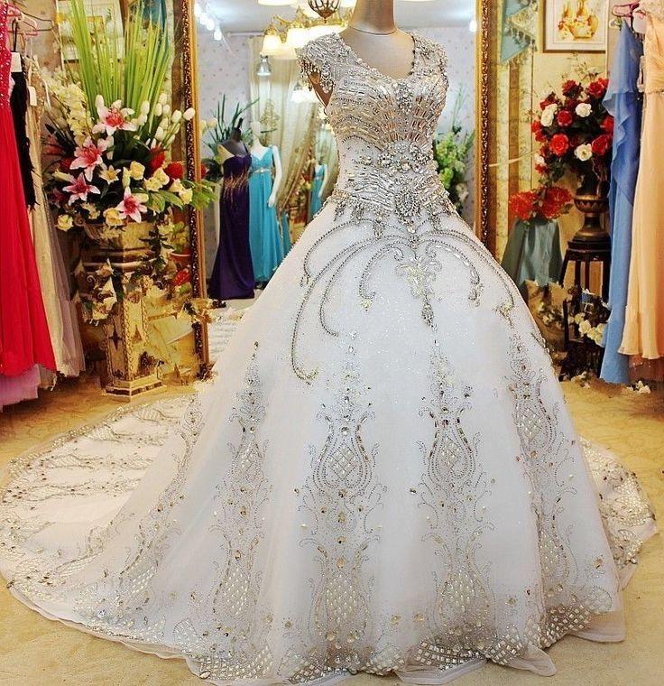 Mariage - White Ivory Wedding Dress