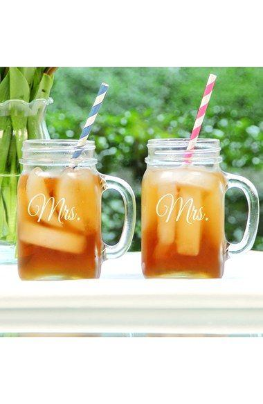 Wedding - 'For The Couple' Mason Jar Glasses