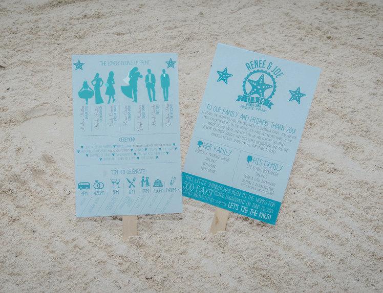 Свадьба - Wedding Program Fan, Starfish Wedding Program Fan, Wedding paddle program,Starfish Wedding paddle program, PDF Design or Printed and Shipped