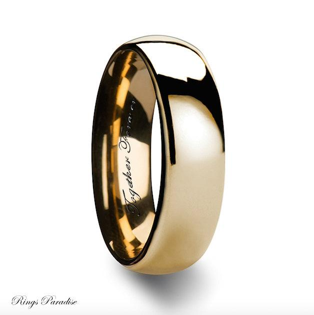 Yellow Gold Bands His And Hers Wedding Bands Wedding Band Women Wedding R