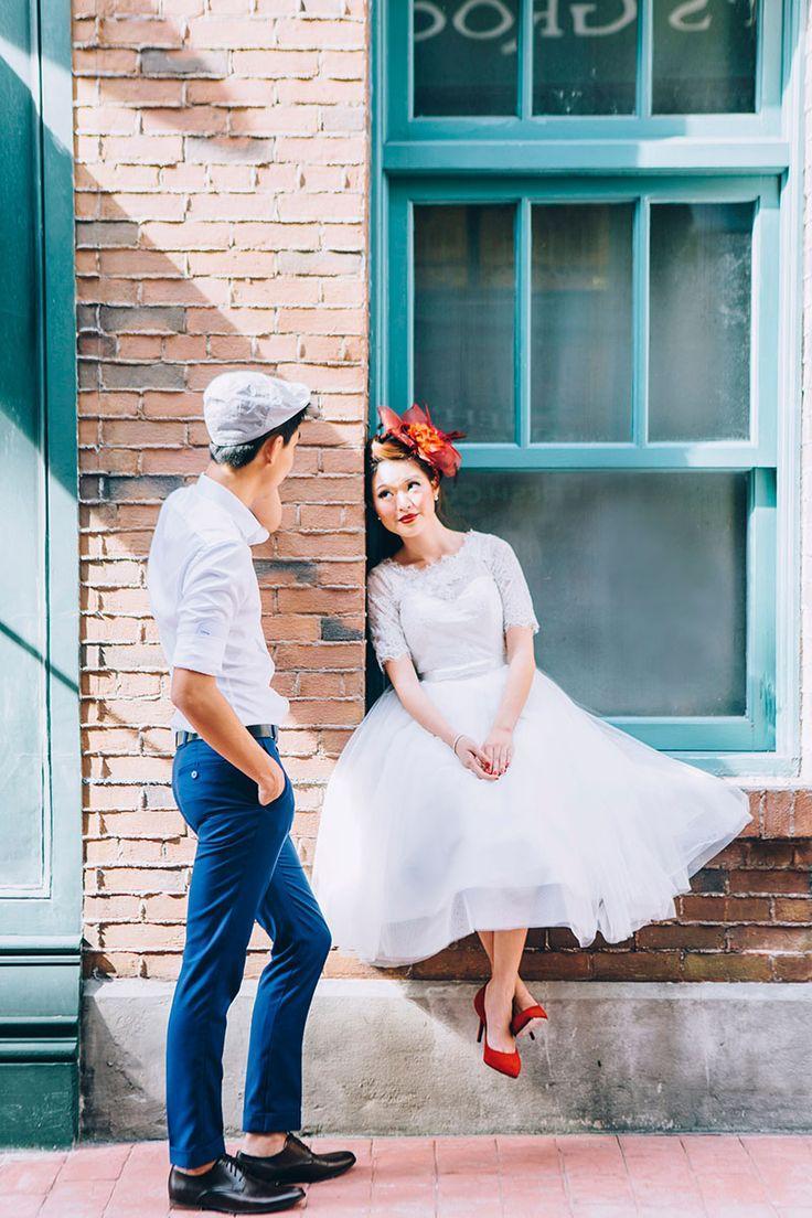 Hochzeit - Retro Pre Wedding Styled Shoot At Universal Studios Singapore